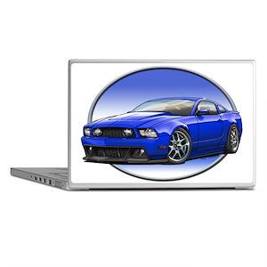 GT Stang Blue Laptop Skins