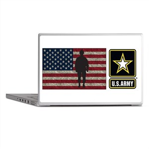 USArmy Gold Star Flag PP Laptop Skins
