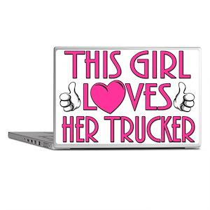 This Girl Loves Her Trucker Laptop Skins