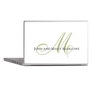 Names and Monogrammed Initial Laptop Skins
