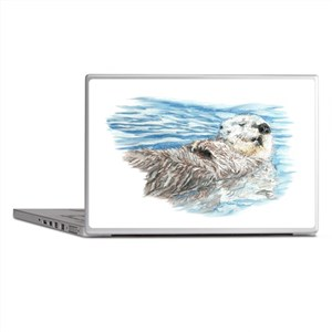 Cute Watercolor Otter Relaxing or Chi Laptop Skins