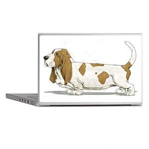Basset-Hound-Watercolor Laptop Skins