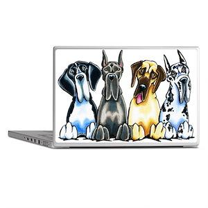 4 Great Danes Laptop Skins