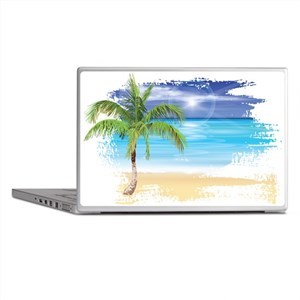 Beach Scene Laptop Skins