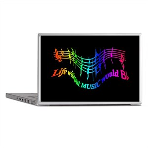 Life without Music would B flat Humor quote Laptop