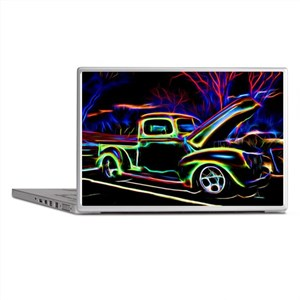 1940 Ford Pick up Truck Neon Laptop Skins