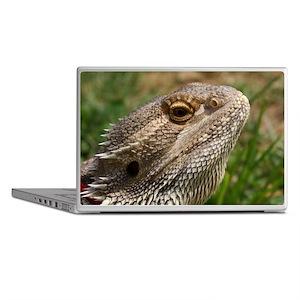 Beautiful Bearded Dragon on Grass Clo Laptop Skins