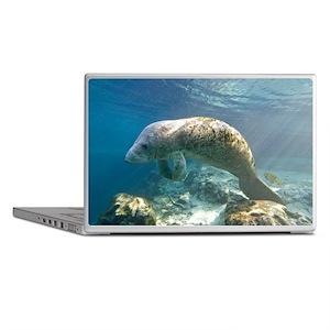 Florida manatee swimming - Laptop Skins