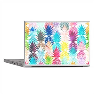 Hawaiian Pineapple Pattern Tropical W Laptop Skins