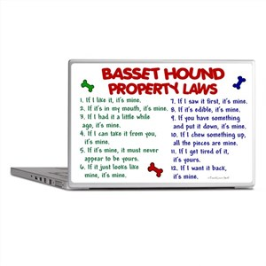 Basset Hound Property Laws 2 Laptop Skin