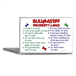 Bullmastiff Property Laws 2 Laptop Skin