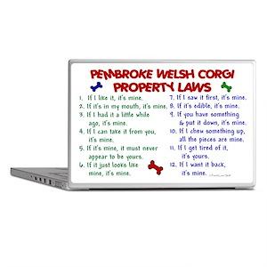 Pembroke Welsh Corgi Property Laws 2 Laptop Skin