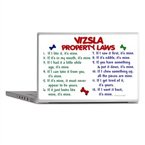 Vizsla Property Laws 2 Laptop Skin