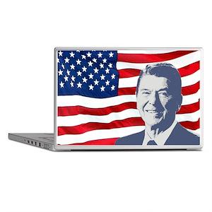 Reagan and Flag Laptop Skins