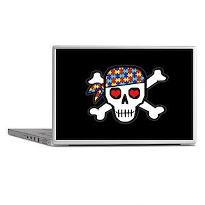 Rockin' Autism Skull (Blk) Laptop Skins