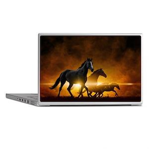 Wild Black Horses Laptop Skins