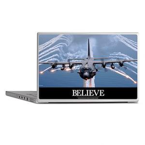 Military Poster: An AC-130H Gunship a Laptop Skins