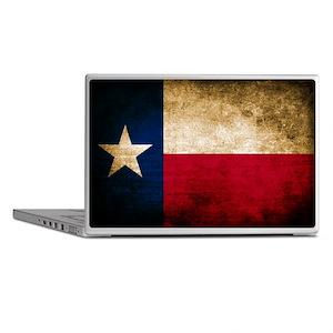 Vintage Flag of Texas Laptop Skins