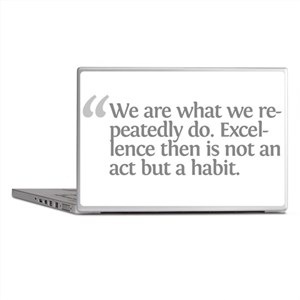 Aristotle We are what we repe Laptop Skins