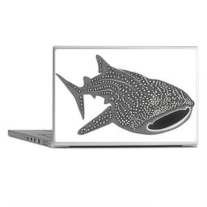 whale shark diver diving scuba Laptop Skins