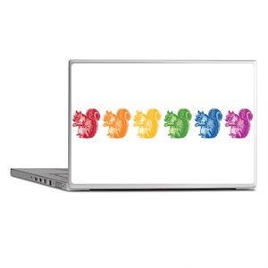 Rainbow Squirrels Laptop Skins