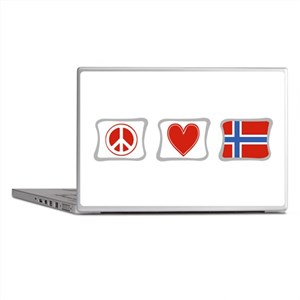 Peace, Love and Norway Laptop Skins