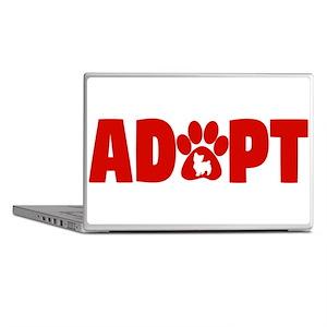Cute Pets Paw Cat Dog Adopt Red Laptop Skins