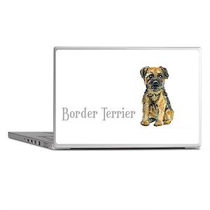 Border Terrier white mug Laptop Skins