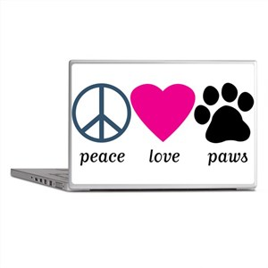 Peace Love Paws Laptop Skins