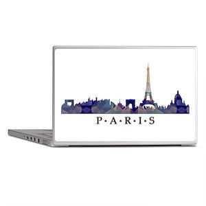 Mosaic Skyline of Paris France Laptop Skins