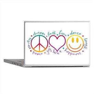 Peace Love Laugh Laptop Skins