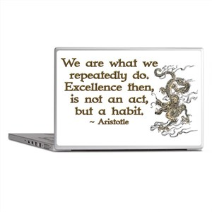 Excellence Life Quote Laptop Skins