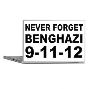 Benghazi Never Forget Laptop Skins