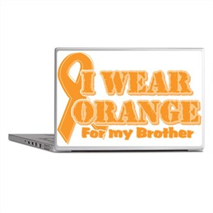 I wear orange brother Laptop Skins