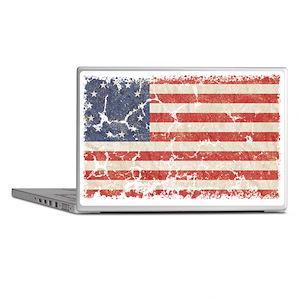 13 Colonies US Flag Distresse Laptop Skins