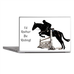 I'd Rather Be Riding Horse Laptop Skins