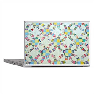 Colorful patchwork quilt Laptop Skins