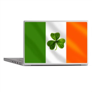 Irish Shamrock Flag Laptop Skins