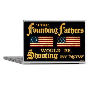 Founding Fathers Shooting Laptop Skin
