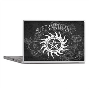 Supernatural Black Laptop Skins