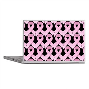 Pink Gingham Ribbon Laptop Skins