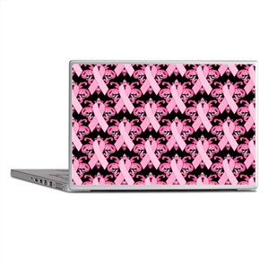 Everyday Pink Ribbon Laptop Skins