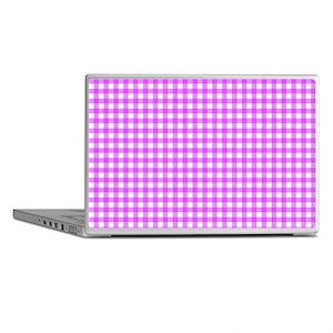 Pink Gingham Pattern Laptop Skins