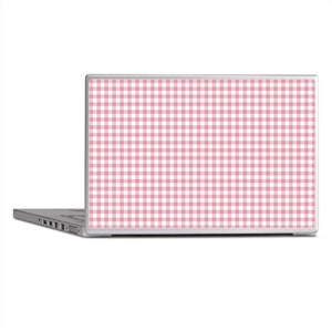 Pretty Pink Gingham Laptop Skins