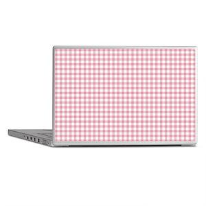 Pretty Pink Gingham Laptop Skins