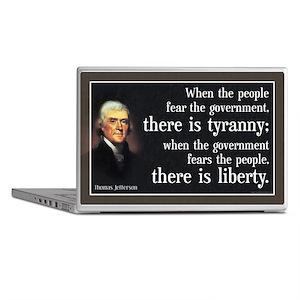 Jefferson: Liberty vs. Tyranny Laptop Skin
