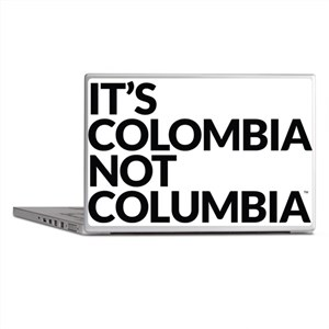 Colombia Not Columbia Laptop Skins