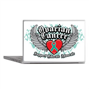 Ovarian Cancer Wings Laptop Skins