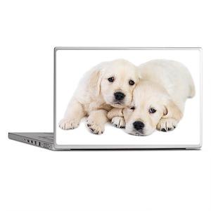 White Labradors Laptop Skins