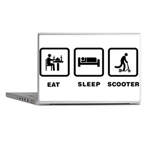 Scooter Riding Laptop Skins